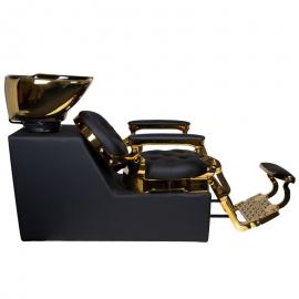 Waschsessel schwarz-gold