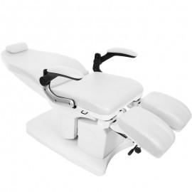 Fußpflegestuhl elektrisch 709 weiß